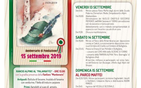 Il 14 Settembre a Buttigliera D'Asti per il 90° di Fondazione del Gruppo
